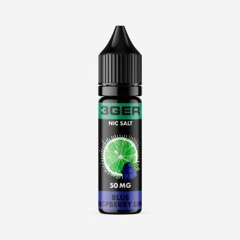 Жидкость для электронных сигарет 3Ger Salt Blue Raspberry Lime 35 мг 15 мл