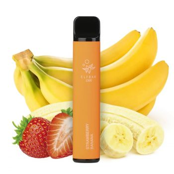 Одноразовая Pod система Elf Bar 1500 Клубника Банан 50 мг 850 мАч (0040)
