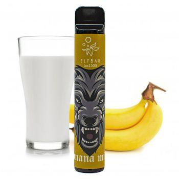 Одноразовая Pod система Elf Bar 1500 Банан с Молоком 50 мг 850 мАч