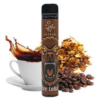 Одноразовая Pod система Elf Bar 1500 Табак и Кофе 50 мг 850 мАч