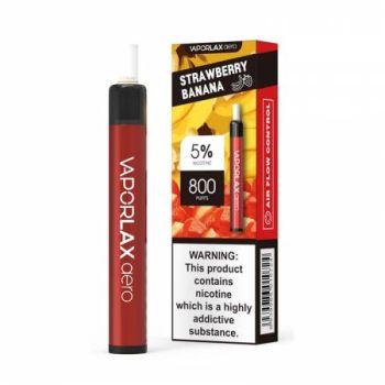 Одноразовая Pod система Vaporlax Aero 800 Strawberry Banana 50 мг 500 мАч (0020)