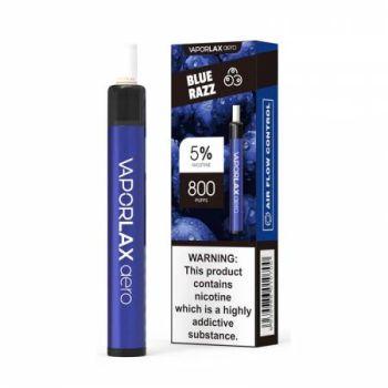 Одноразовая Pod система Vaporlax Aero 800 Blue Razz 50 мг 500 мАч (0020)