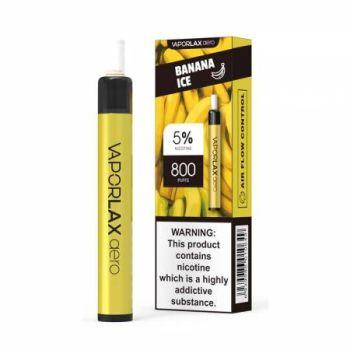 Одноразовая Pod система Vaporlax Aero 800 Banana Ice 50 мг 500 мАч (0020)